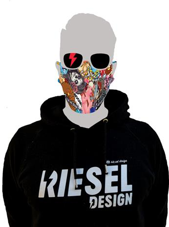 Riesel Design Face Mask, stickerbomb