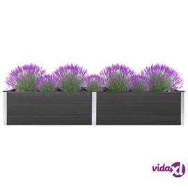 vidaXL Puutarhan kukkalaatikko 300x100x54 cm WPC harmaa