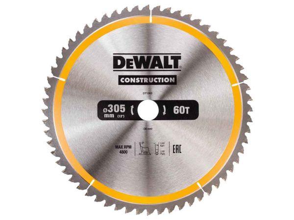 Katkaisuterä puulle DeWalt DT1960; 305x30 mm; 60T
