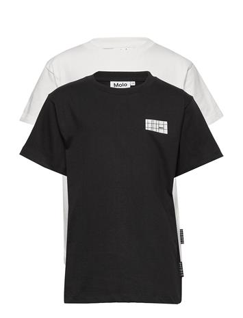 Molo Rasmus 2-Pack T-shirts Short-sleeved Valkoinen Molo WHITE STAR