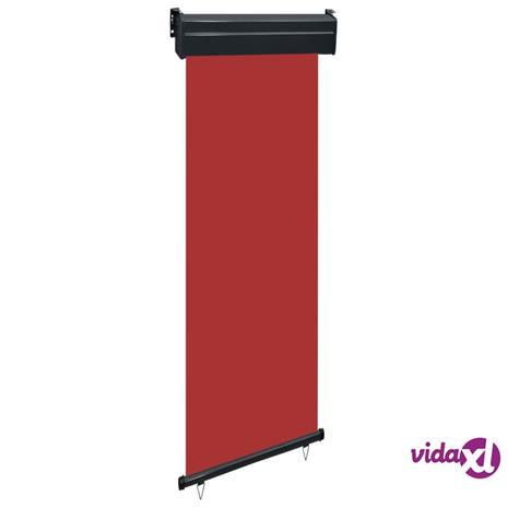 vidaXL Parvekkeen sivumarkiisi 60x250 cm punainen