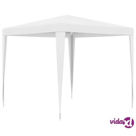 vidaXL Juhlateltta 2,5x2,5 m valkoinen