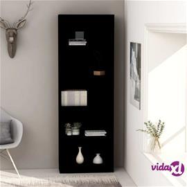 vidaXL 5-tasoinen kirjahylly musta 60x24x175 cm lastulevy