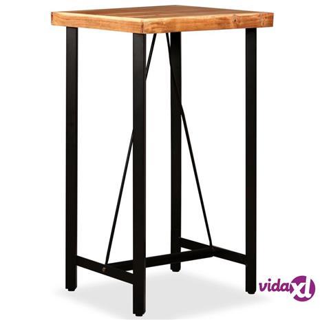 vidaXL Baaripöytä täysi akaasiapuu 60x60x107 cm, Ruokapöydät ja -tuolit