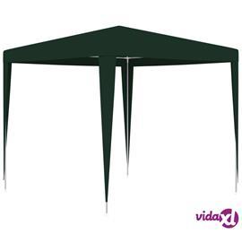 vidaXL Ammattilaisten juhlateltta 2,5x2,5 m vihreä 90 g/m²