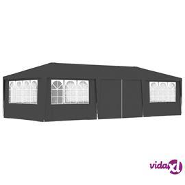 vidaXL Ammattilaisten juhlateltta sivuseinillä 4x9m antrasiitti 90g/m²