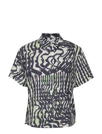 Samsä¸e Samsä¸e Mina Shirt Ss Aop 11332 Blouses Short-sleeved Samsä¸e Samsä¸e SEISMOGRAPH