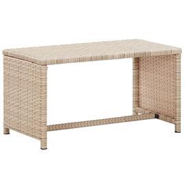 vidaXL sofabord 70x40x38 cm polyrattan grå