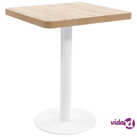 vidaXL Bistropöytä vaaleanruskea 60x60 cm MDF