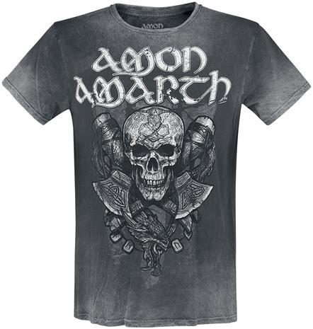 Amon Amarth - Carved Skull - T-paita - Miehet - Tummanharmaa