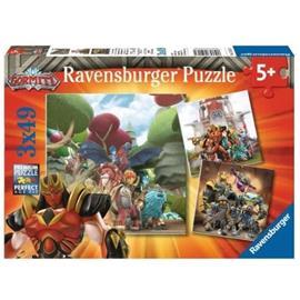 RAVENSBURGER - Palapelit 3x49 kappaletta Hyvä pahasta / Gormitista vastaan