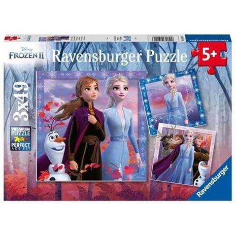 RAVENSBURGER - Jäädytetty 2 palapeliä 3x49 kappaletta