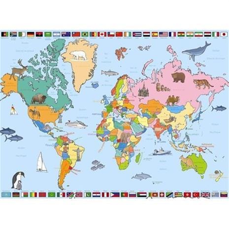 Palapeli 250 kpl maailmankartta
