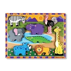 MELISSA & DOUG Suuret puiset palapelit - Safari-eläimet