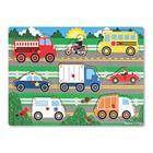 MELISSA & DOUG - puinen palapeli napilla - ajoneuvot