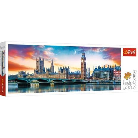 Big Ben and Palace of Westminster, London, Panorama Palapeli, 500 palaa, Trefl