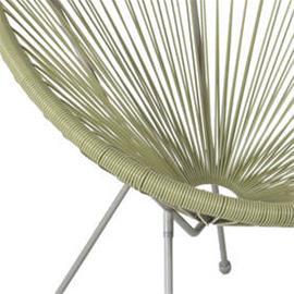 Parvekeryhmä COMO, pöytä + 2 tuolia, teräsrunko, lasikansi, harmaa/vihreä