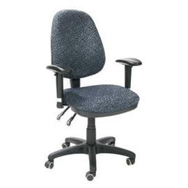Työtuoli SAVONA, harmaa, säädöt selkänoja, istuinkorkeus, käsinojat
