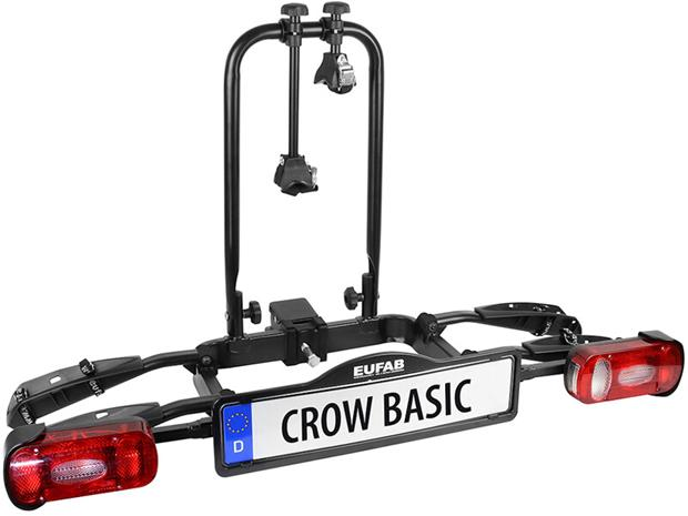 Eufab Crow Basic Bike Carrier for Trailer Coupling