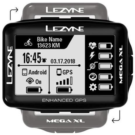 Lezyne Mega XL GPS Ajotietokone, black