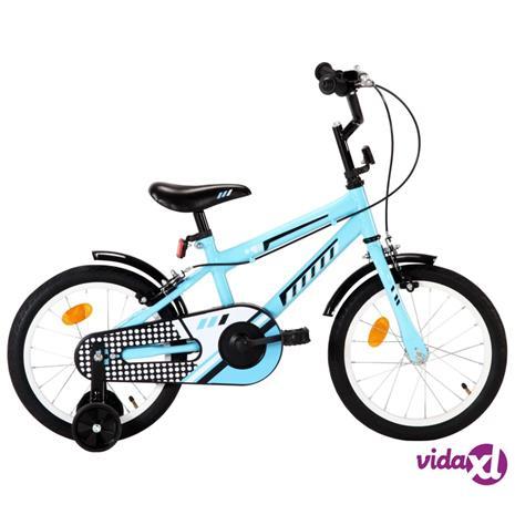 """vidaXL Lasten pyörä 16"""""""" musta ja sininen"""