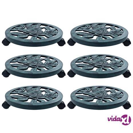 vidaXL Kasvirullakot 6 kpl vihreä 38 cm muovi