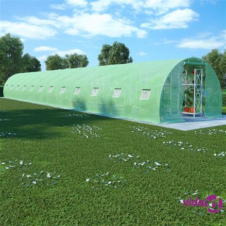 vidaXL Kasvihuone teräsperustuksella 54 m² 18x3x2 m