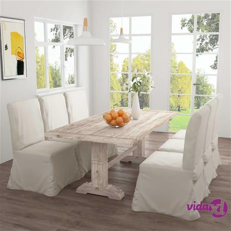 vidaXL Ruokapöytä 200x100x75 cm täysi tiikki