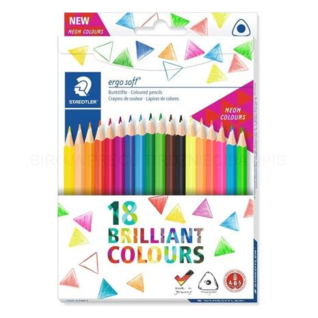 Staedtler - Coloured pencil ergosoft 18 pcs FSC 100% (157 C18P1), Muut lelut