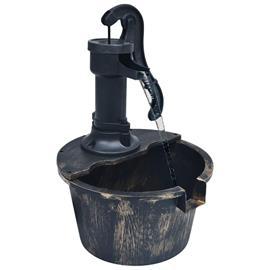 vidaXL Puutarhalähde vesitynnyri pumpulla