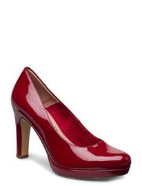 Tamaris Woms Court Shoe Shoes Heels Pumps Classic Punainen Tamaris CHERRY PATENT