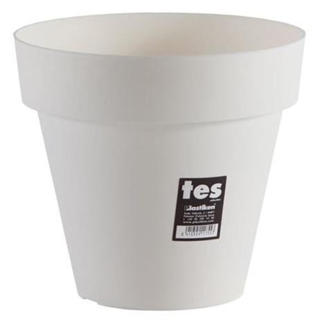 PLASTIKEN Tes kukkaruukku - 22 cm - valkoinen