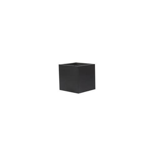 Sementtityyppinen lasikuitukukkalaatikko - 40 x 40 x 40 cm - musta