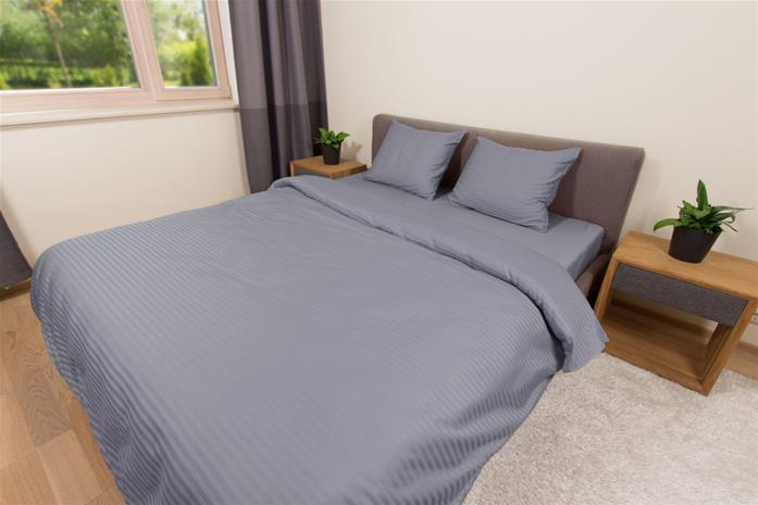 Dossa Line Grey -vuodevaatteet 180 x 210 + 2x tyynyliina 50 x 60 cm