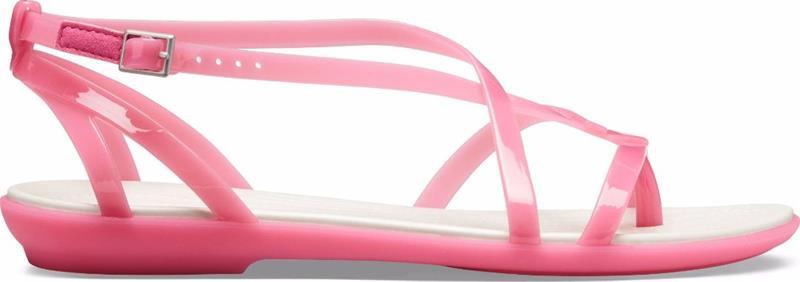 """Crocsâ""""¢ naisten vapaa-ajan kengät Isabella Gladiator Sandal, pinkki"""