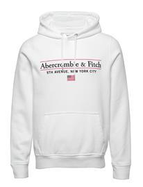 Abercrombie & Fitch Destination Popover Huppari Valkoinen Abercrombie & Fitch WHITE