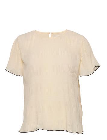 Levete Room Lr-Jalina Blouses Short-sleeved Kermanvärinen Levete Room L111 - ANTIQUE WHITE