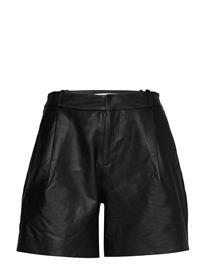 Custommade Mahiam Shorts Leather Shorts Musta Custommade ANTHRACITE BLACK