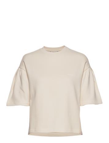 HOLZWEILER Huk Tee2 T-shirts & Tops Short-sleeved Beige HOLZWEILER ECRU