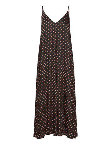 Envii Ensylphide Sl Dress Aop 6734 Polvipituinen Mekko Musta Envii MEADOW SAFFRON, Naisten hameet ja mekot