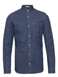 Tommy Jeans Tjm Stretch Denim Shirt Paita Rento Casual Sininen Tommy Jeans DENIM MEDIUM, Miesten paidat, puserot ja neuleet