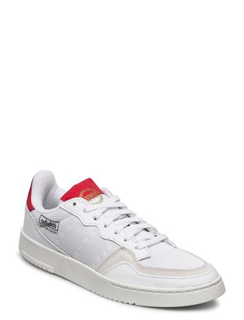 adidas Originals Supercourt Matalavartiset Sneakerit Tennarit Valkoinen Adidas Originals FTWWHT/FTWWHT/SCARLE