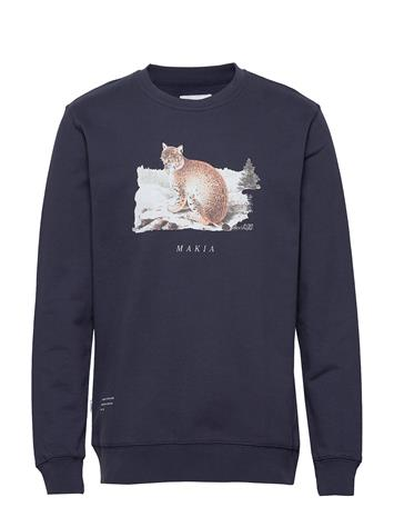 Makia Lynx Sweatshirt Svetari Collegepaita Sininen Makia DARK BLUE