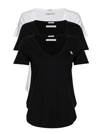 Abercrombie & Fitch Vneck Multipack T-shirts & Tops Short-sleeved Musta Abercrombie & Fitch WHITE