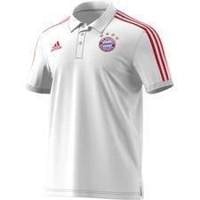 Bayern Mä¼nchen Pikee 3-Stripes - Valkoinen/Punainen