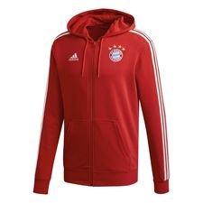 Bayern Mä¼nchen Huppari 3-Stripes FZ - Punainen/Valkoinen
