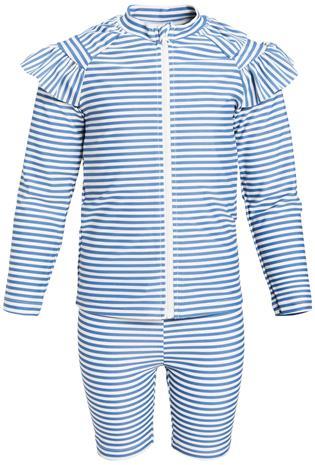 Luca & Lola Bianche UV-setti, Blue Stripes 74-80