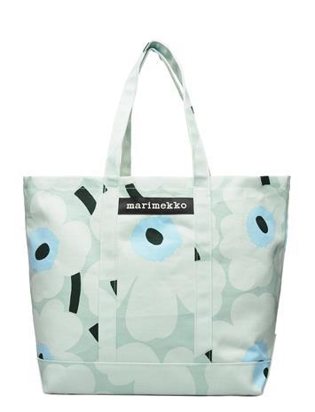 Marimekko Peruskassi Pieni Unikko Bag Bags Shoppers Casual Shoppers Vihreä Marimekko LIGHT TURQUOISE,BLUE,GREEN