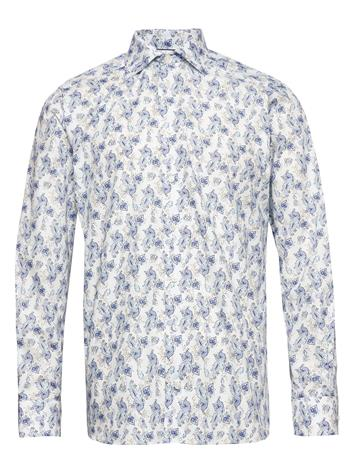 Eton Watercolour Paisley Shirt Paita Rento Casual Sininen Eton BLUE