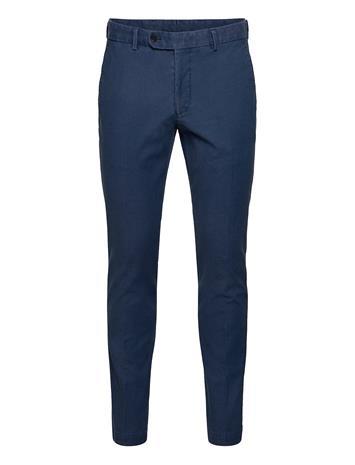 Morris Rodney Washed Cotton Trouser Chinot Housut Sininen Morris BLUE
